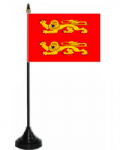 Lower Normandy Desk / Table Flag with plastic stand and base.